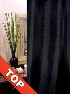 Textil Duschvorhang Uni schwarz 180 x 230 CM ÜBERLÄNGE Perfekt für hohe Decken!