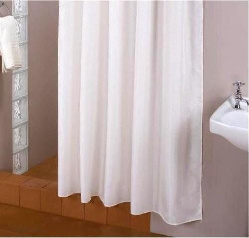 Textil Duschvorhang weiß 150x200 cm extra schmal inkl. Duschringe 150x200 cm