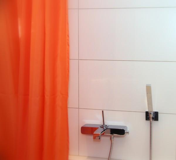 Textil Duschvorhang orange 240x180 inkl. Ringe 240 breit 180 hoch
