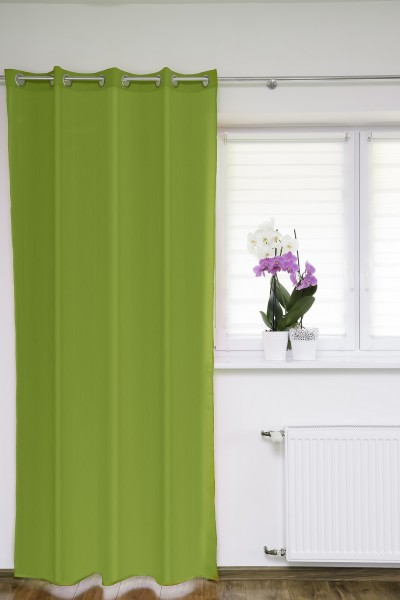 Ösenschal Fenstervorhang grün 145x250 cm Gardinenschal Dekoschal