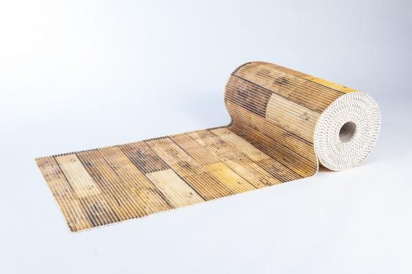 Weichschaummatte Holzoptik 65x210 cm Badteppich Antirutschmatte Meterware