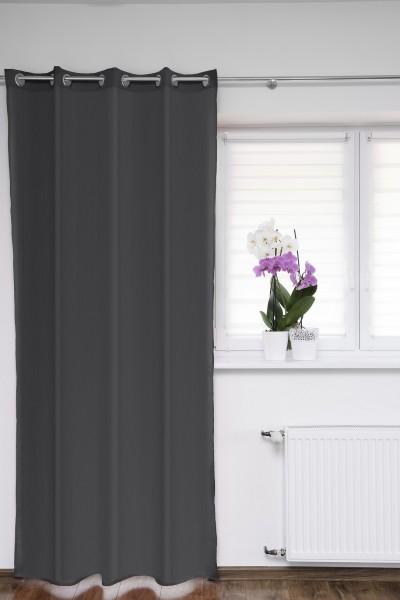 Ösenschal Fenstervorhang grau 145x250 cm Gardinenschal Dekoschal
