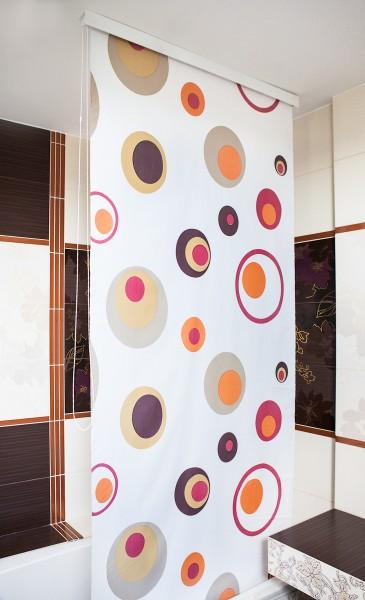 Halb-Kassetten Duschrollo Duschvorhang Modell Colorful 160x240 cm
