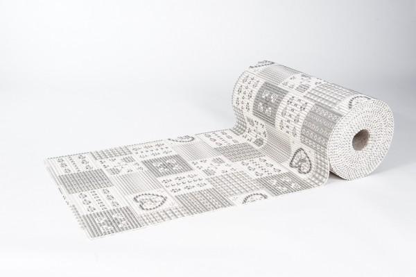 Weichschaummatte Herzen 65x200 cm Badteppich Antirutschmatte Meterware