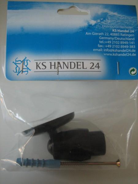 Schrägwandadapter Ø27 mm für Duschvorhangstangen Farbe schwarz