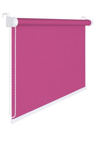 Fensterrollo 85 cm Breite 175 cm lang pink rosa Verdunklung 50 % Sichtschutzrollo inkl. Seilzug Fens